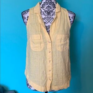 Anthropologie Maeve Sleevless Button Down Top 8